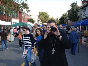 Fr. Basil Biberdorf at the 2012 Selinsgrove Market Street Festival.