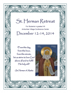 St Herman Retreat Flyer 2014