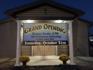 Chapel Grand Opening Banner