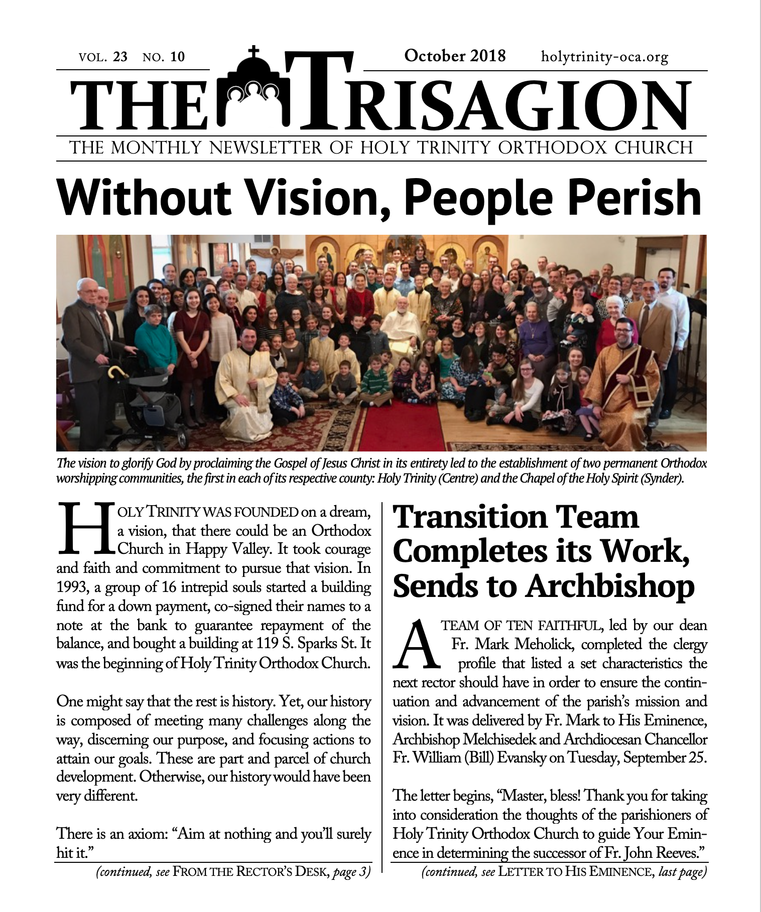 Click here to download the October 2018 issue.