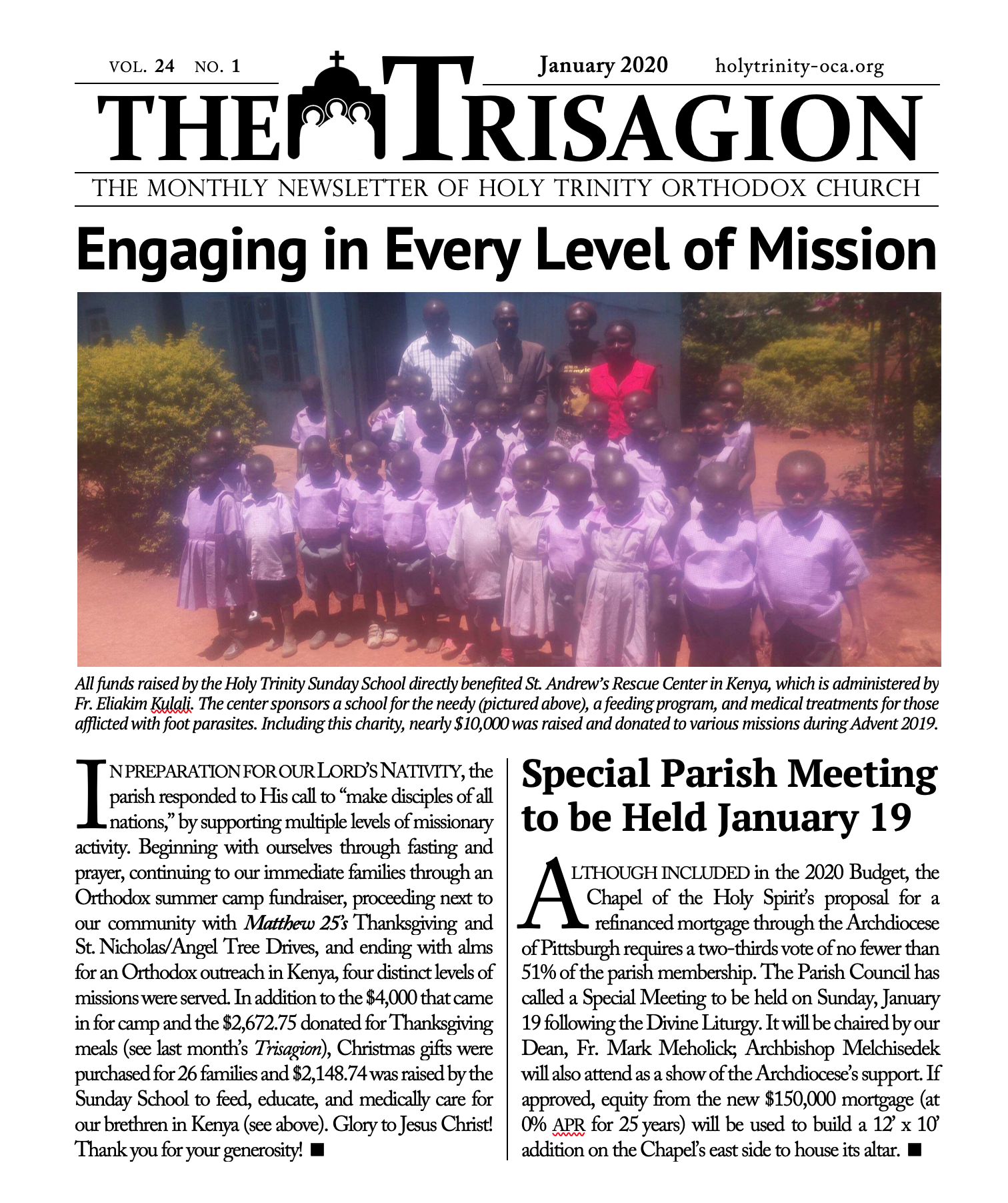 Click here to view the January 2020 issue.
