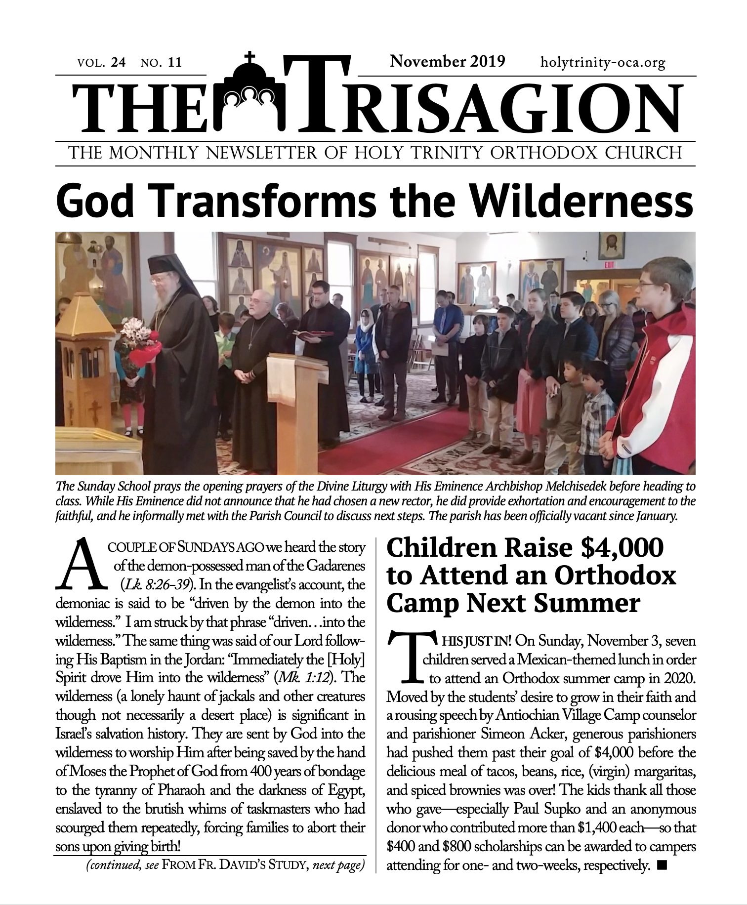 Click here to view the November 2019 issue.