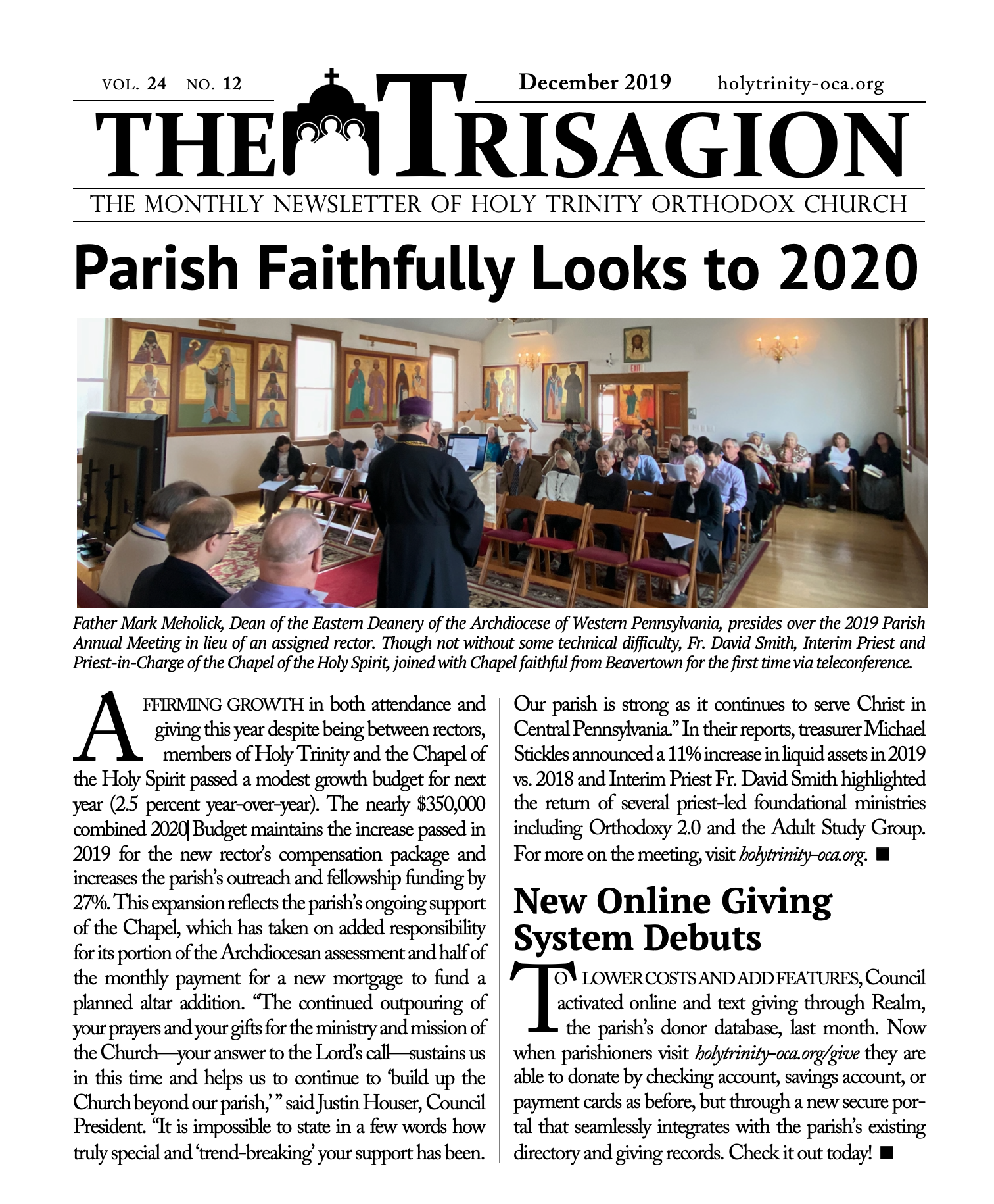 Click here to view the December 2019 issue.