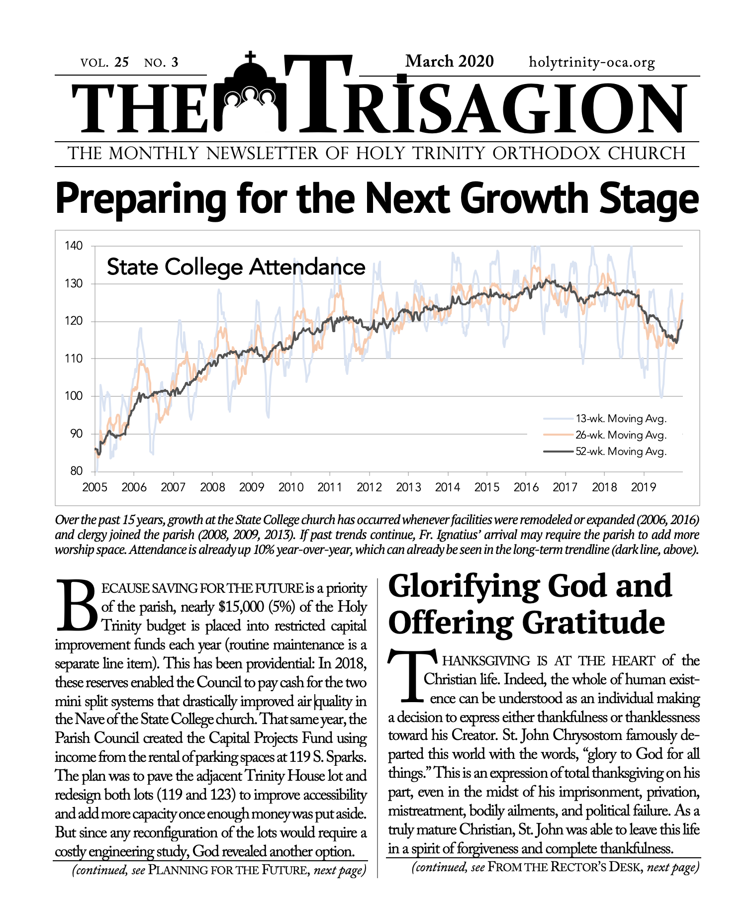 Click here to view the March 2020 Trisagion.