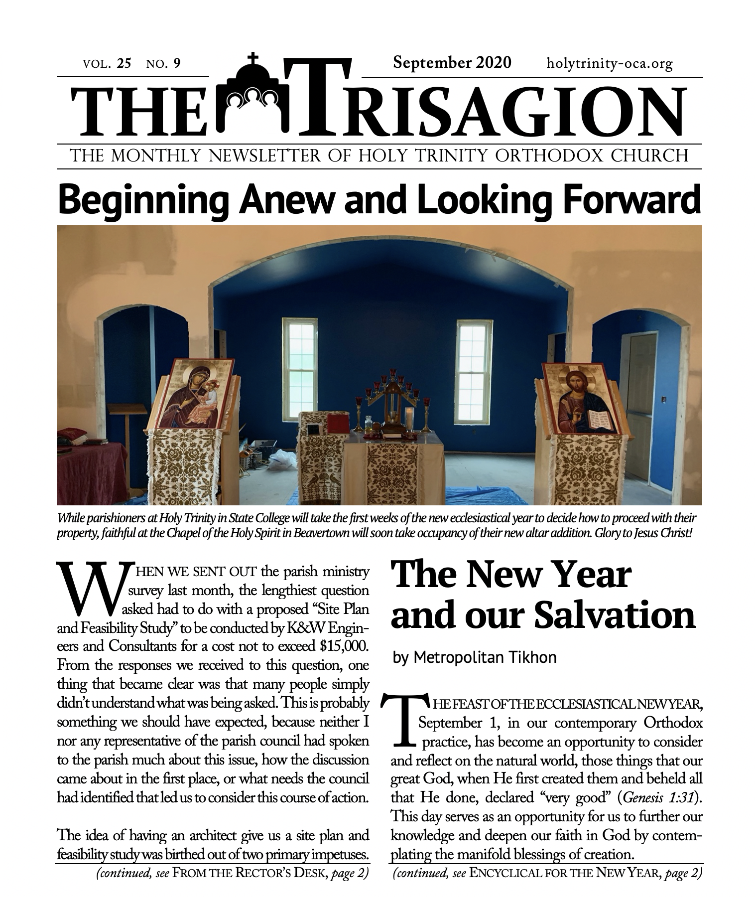 Click here to view the September 2020 issue.